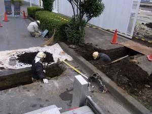 下水道管設置コア抜き工事