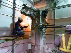 ビル柱の切断