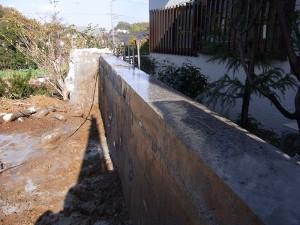コンクリート壁切断後