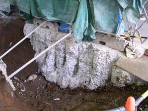 破砕したコンクリート