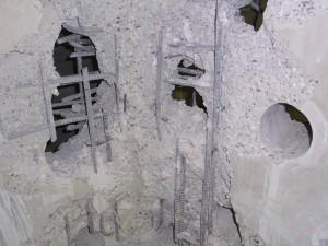 金庫室の壁