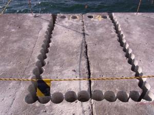 連続コアによるコンクリート切断